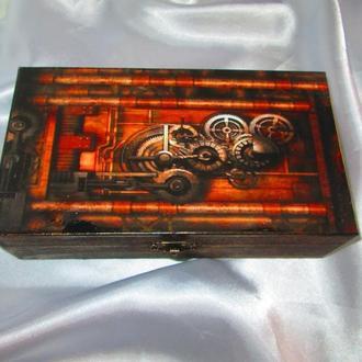 Купюрница ′Механика′,тема Стимпанк (Steampunk),подарок мужу,сыну,шефу,другу
