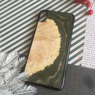 Resin & Wood Case for Apple iPhone X