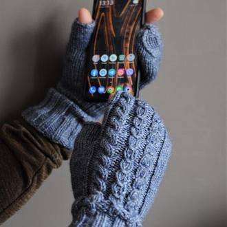 чоловічі рукавиці для користування мобільним