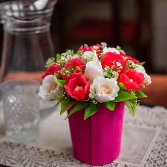 """Подарочный букет из мыла """"Весенние тюльпаны"""""""