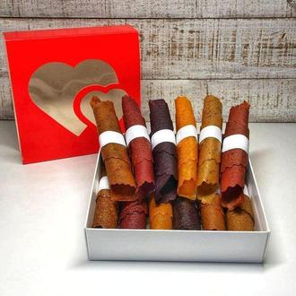 Подарок девушке на День Святого Валентина и 8 марта набор пастилы 12 трубочек