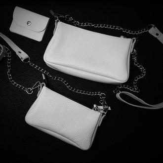 Двойная женская кожаная сумочка Molli
