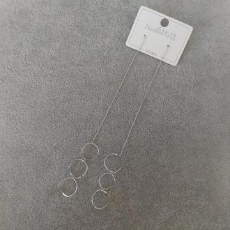 Серьги протяжки Кольца 11х103мм серия 925 цвет металла серебро Артикул: 31252