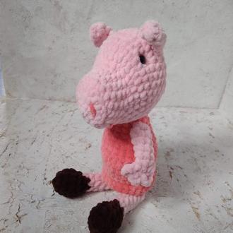 Свинка Пеппа. Мягкая игрушка Пеппа. Вязаные игрушки крючком