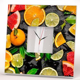 """Красивые часы для кухни """"Цитрусы. Фрукты"""""""