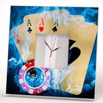 """Интерьерные подарочные часы  """"Покер Казино"""""""