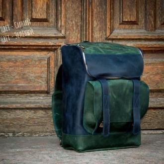 Кожаный мужской рюкзак. Деловой кожаный рюкзак