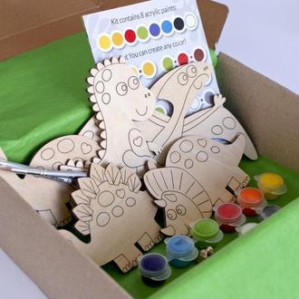 """Дитячий набір для творчості """"Вечірка динозаврів"""" з магнітами"""
