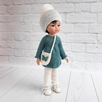 В'язана одяг на ляльку Паола 32 см, подарунок дівчинці