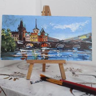 Прага міст картина маслом
