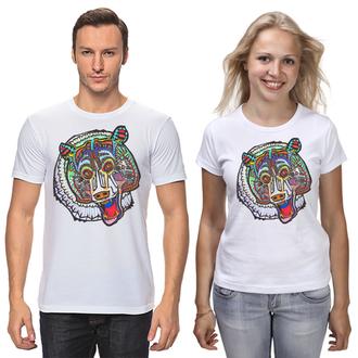 Одинаковые футболки парные медведи