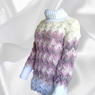 Жіночий светр-міссоні великої в'язки