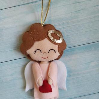 Ангел из фетра на День святого Валентина, День всех влюбленных