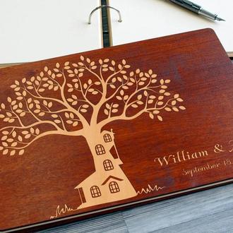 """Свадебная гостевая книга """"Дерево - дом"""""""