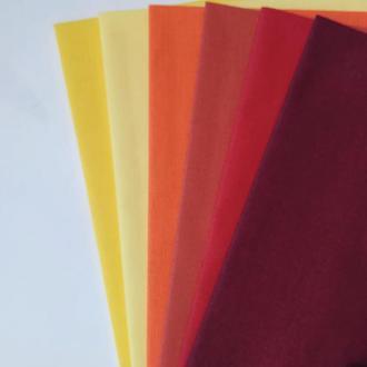 Набор ткани для рукоделия однотонная палитра