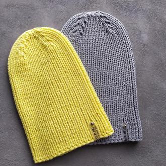 Желтая шапка на весну