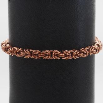 Медный браслет.Византийское плетение.