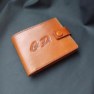 Кожаный кошелек с тиснением - рисунки и надписи на ваш выбор. Ручная работа!