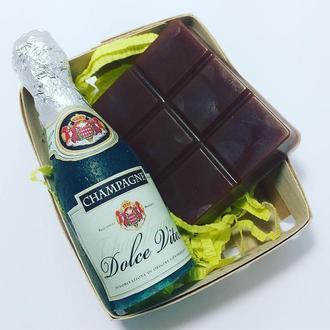 """Подарочный набор мыла """"Шампанское и шоколад"""""""