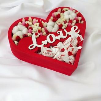 Цветы в коробке / Букет из конфет