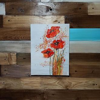 Картина «Маки», 30х40