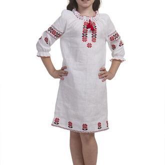 Платье для девочки Квітана (лен белый)