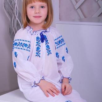 Сукня для дівчинки Троянда (батист білий)