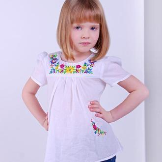 Сукня для дівчинки малючкова Веснянка (батист білий)
