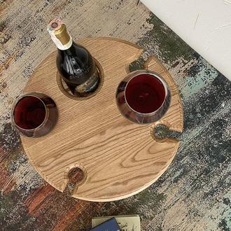 Винный столик из дуба (светлый)