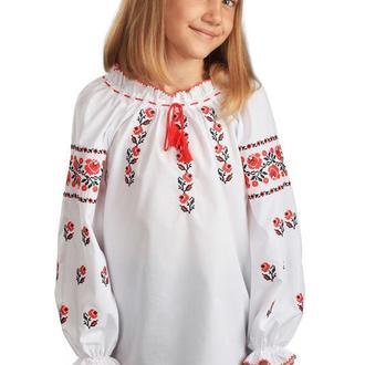 Блуза для дівчинки Троянда (сорочкова біла)