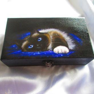 Купюрница, шкатулка ′Котик′