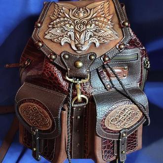 """Кожаный рюкзак """"ЛИСА"""""""