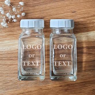 Баночки для специй с вашим текстои или логотипом