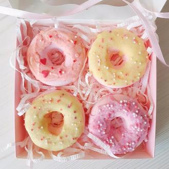 Подарочный набор бомбочек - пончиков с глазурью - на День Рождения для девушки женщины