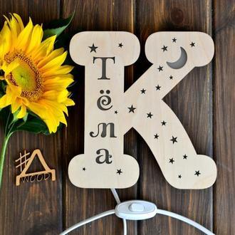 Светильник в форме буквы К