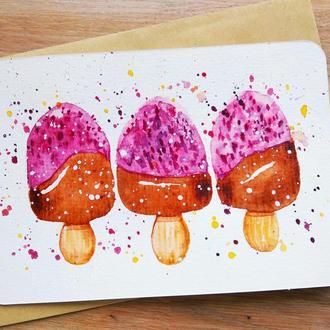 Набор открыток со сладостями