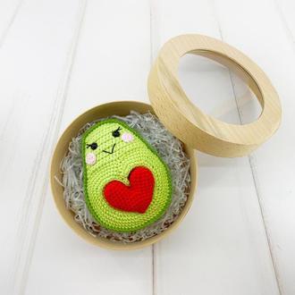 Авокадо с сердечком, валентинка