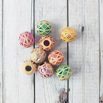 Бусины декоративные под керамику 15*15 мм. Микс 20 г