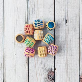 Бусины декоративные под керамику 13*12 мм. Микс 20 г