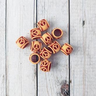 Бусины декоративные под керамику 10*12 мм. 20 г