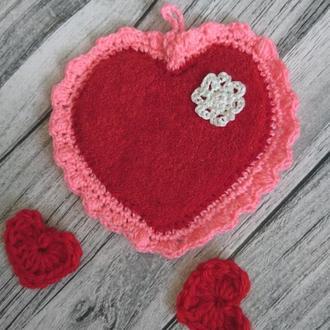 Валентинки сердечки - Валентинки  - подставка под чашку