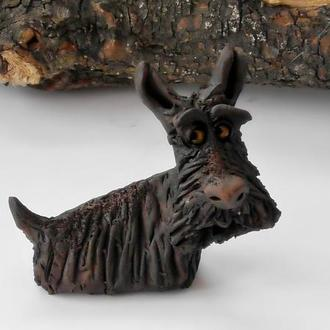 Терьер фигурка собачка керамическая