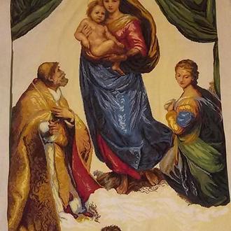Ручная вышивка крестом: Сикстинская мадонна