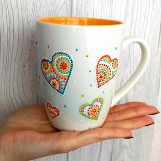 """""""Сердечки"""" чашка для чая"""