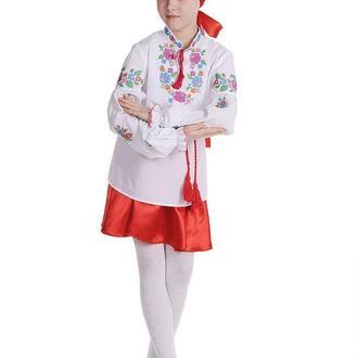 Блуза для дівчинки Веселкова троянда (сорочкова біла)