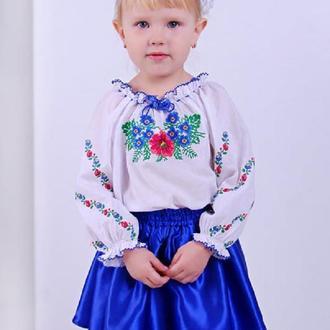 Блуза для дівчинки Ласкавиця (батист білий)