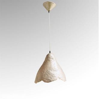 Подвесной светильник из усиленного папье-маше перламутровый P007-19