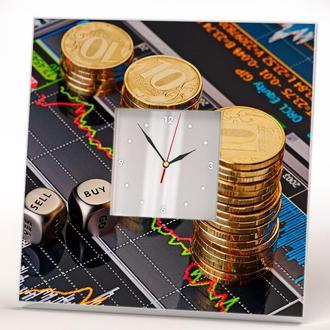 """Часы с рисунком """"Деньги"""""""