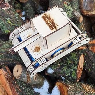 Деревянные танк для пива, подарок мужчине, оригинальный подарок для мужа, бокс для пива