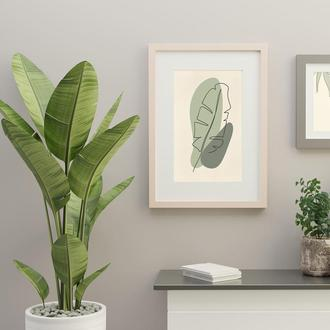 Green Leaves постер на стену